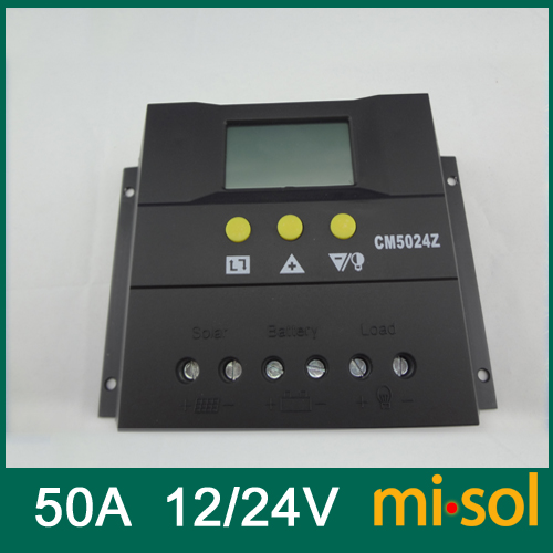 misol 50A,12//24v Solar Charge Controller PWM LCD Solar regulator LCD