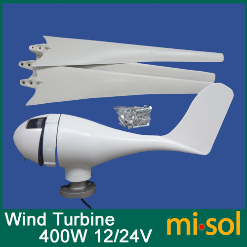 400W Wind turbine 12V 24V wind generator kit-JIAXING MISOL IMPORT